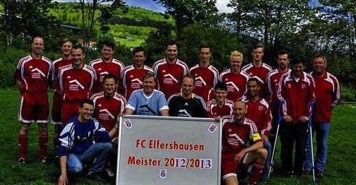 1. FC Elfershausen - Meisterbild 2012/2013 B-Klasse Rhön 1 - Foto Anja Schmitt